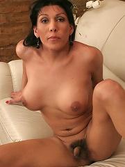 Hot T-girl Daniela Milking A Cock Between Her Tits