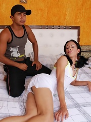 Two Ladyboys Showing Off Their Girl Poles