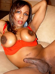 Hot Black Tgirl Who Loves To Show Off Her Huge Tits!