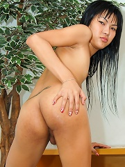 Asian T-girl Polla Takes Up The Ass Raw And Rough