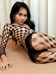 Ladyboy Gets Hard And Crazy In Bodystocking