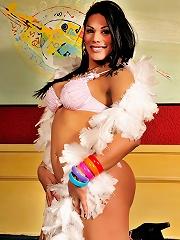 Tgirl Cutie Cassia Carvalho Bares All