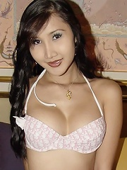 Lovely Asian Tranny Shows Off Surgically Made Pussy