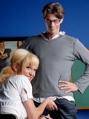 Filthy Schoolgirl Seducing Her Teacher To Bang Her
