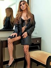 Mistress Ladyboy Sexily Strips And Jerks Off